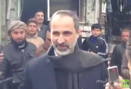 معاذ الخطيب يزور منطقة تسيطر عليها المعارضة في سورية