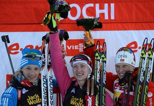 الروسية زايتسيفا تكتفي بفضية سباق الفردي للبياثلون في سوتشي