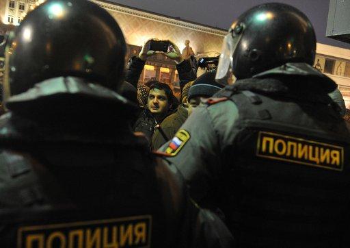 مظاهرة احتجاجية للمعارضة وسط موسكو.. وتوقيف عدد من الاشخاص