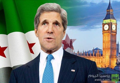 كيري ينوي لقاء ممثلي المعارضة السورية في لندن هذا الاسبوع