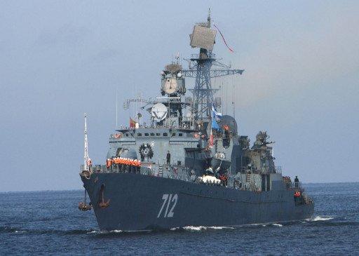 سفينة حربية روسية تصل المنطقة الشرقية في خليج عدن
