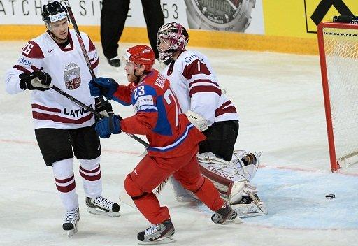 روسيا تبدأ مشوارها في بطولة العالم للهوكي بفوز ساحق على لاتفيا