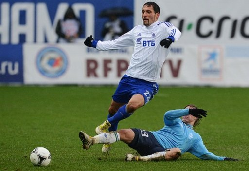 دينامو موسكو يقفز الى المركز الرابع في الدوري الروسي