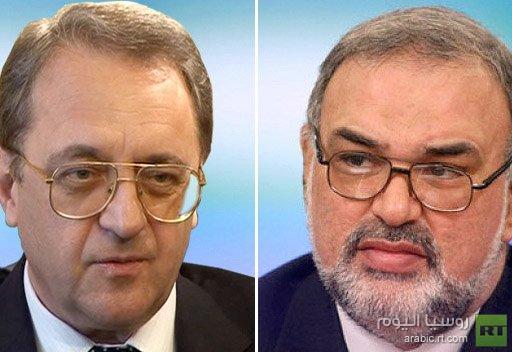 المندوب الخاص للرئيس الروسي والسفير الإيراني لدى موسكو يشددان على ضرورة وقف العنف في سورية