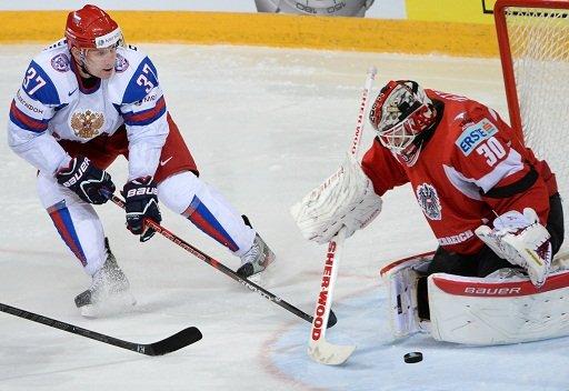 روسيا تمطر شباك النمسا بثمانية أهداف في مونديال هوكي الجليد