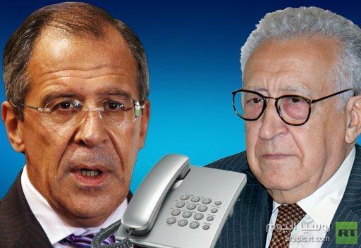 لافروف والابراهيمي يبحثان التحضيرات لعقد المؤتمر الدولي بشأن سورية