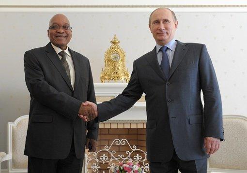 بوتين يعرب عن ارتياحه لمستوى تطوير العلاقات مع جنوب إفريقيا