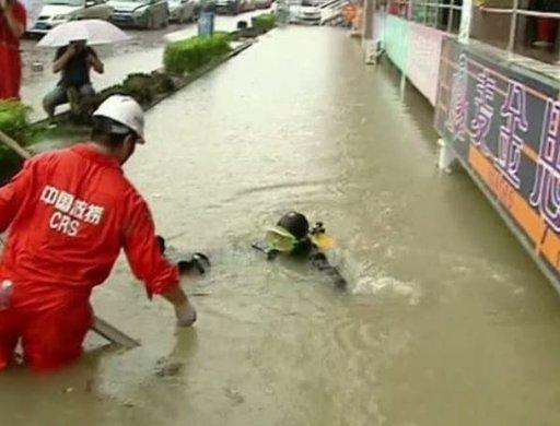 ارتفاع عدد ضحايا العواصف والأمطار الشديدة في الصين إلى 55 شخصا