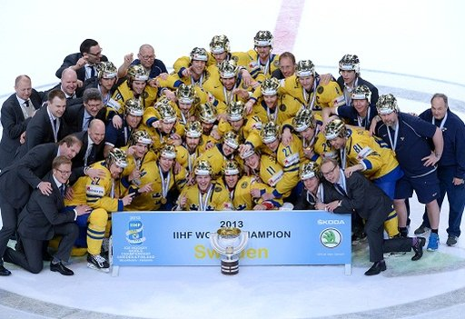 السويد بطلة للعالم بهوكي الجليد للمرة التاسعة