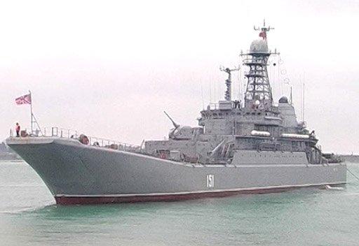 سفن حربية روسية تجري مناورات في بحر ايجة