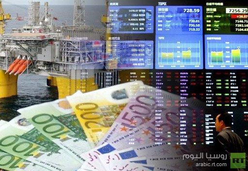 اليورو إلى أعلى مستوى في 18 شهرا ومؤشر نيكاي يهوي وبرنت يواصل الهبوط