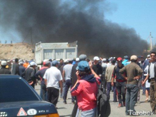 إصابة اكثر من 50 شخصا نتيجة الاشتباكات في قرغيزيا