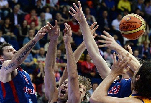 تسيسكا موسكو يبلغ نهائي الدوري الموحد لكرة السلة