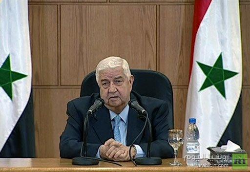 البث المباشر للمؤتمر الصحفي لوزير الخارجية السوري وليد المعلم