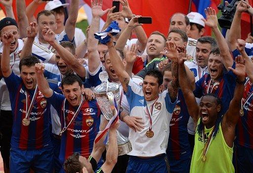 تسيسكا موسكو يتوج بكأس روسيا للمرة السابعة
