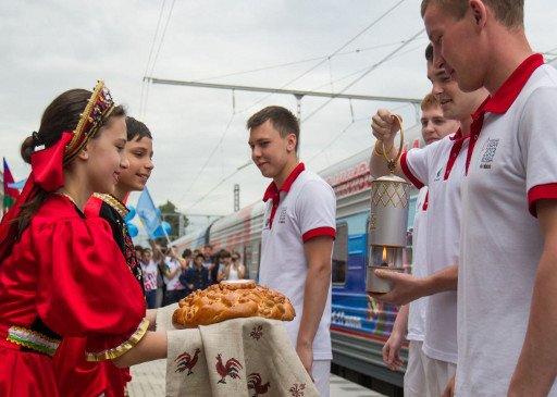 شعلة الألعاب الجامعية 2013 تصل إلى موسكو