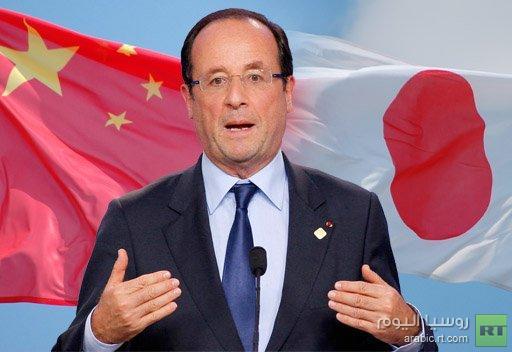 الرئيس الفرنسي يعزي الصينيين بدلا من اليابانيين