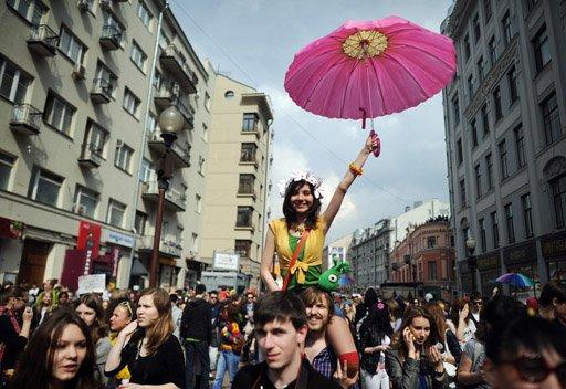 90 في المائة من الروس راضون عن حياتهم