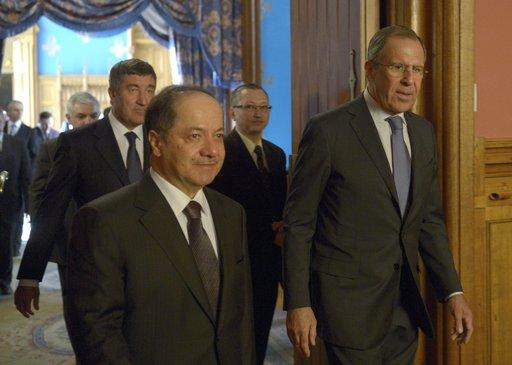 لافروف يناقش مع بارزاني المؤتمر الدولي المرتقب حول سورية