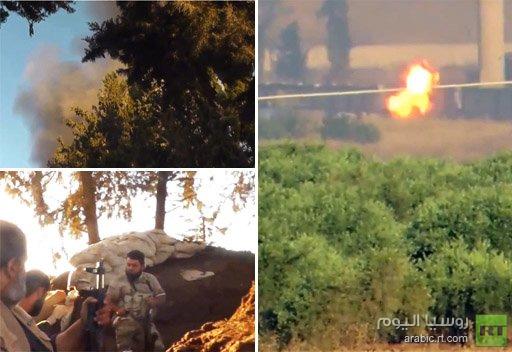 مقاتلون معارضون يسيطرون على أجزاء من مطار منغ العسكري والجيش يسيطر بالكامل على تلكلخ