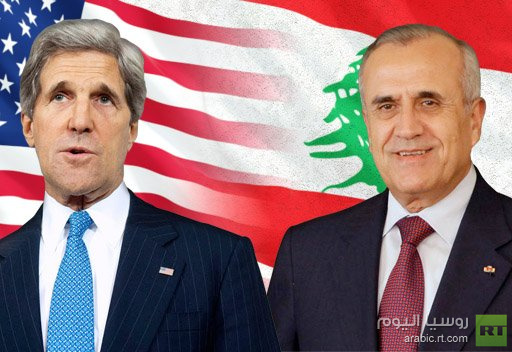 سليمان وكيري يؤكدان على ضرورة عدم جر لبنان الى النزاع في سورية