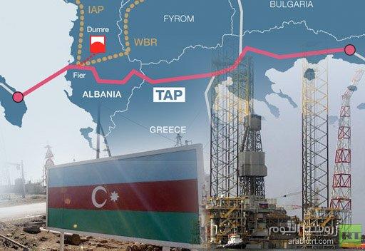 نقل الغاز الأذربيجاني إلى أوروبا عبر خط الأنابيب العابر لبحر الأدرياتيك