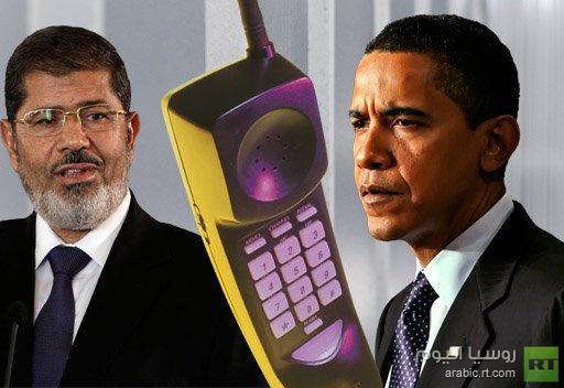 أوباما: شجعنا الرئيس مرسي لاتخاذ خطوات وابداء استجابة لمطالب المتظاهرين