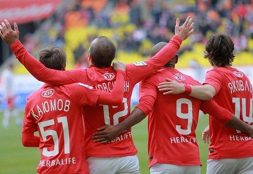 سبارتاك موسكو يفوز على شاختيور بطل أوكرانيا في الدوري الموحد