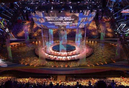 حفل افتتاح رائع لدورة الألعاب الجامعية العالمية الصيفية في قازان 2013