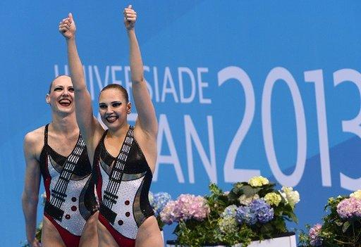 روماشينا وكوليسنيتشينكو تتوجان بذهبية السباحة الايقاعية
