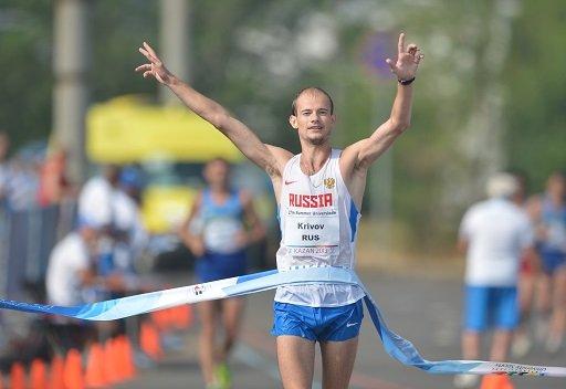 الروسي كريفوف يتوج بذهبية سباق المشي 20 كم برقم قياسي جديد لليونيفرسياد