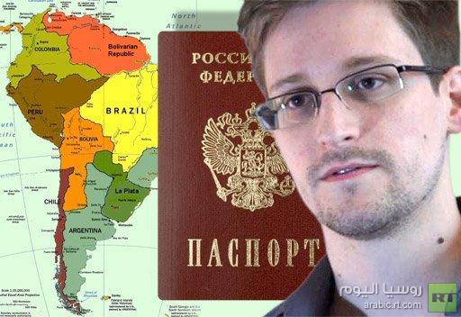 سنودن قد يطلب الحصول على الجنسية الروسية لكي يهاجر إلى أمريكا اللاتينية
