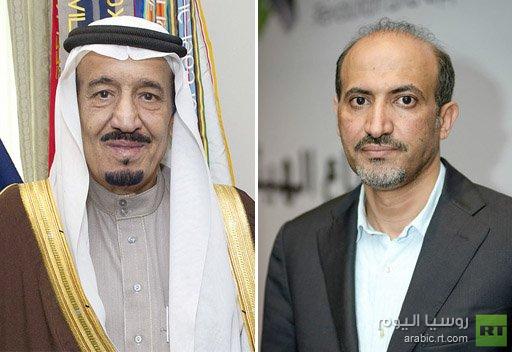 ولي العهد السعودي يدعو خلال لقائه الجربا الى وضع حد لابادة وتجويع السوريين