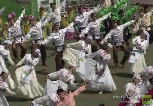 وفود رياضية عربية وأجنبية تشارك في احتفالات عيد موسم الحصاد في قازان