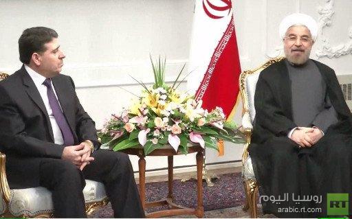 روحاني يلتقي الحلقي ويدين التدخل الأجنبي والارهاب في سورية