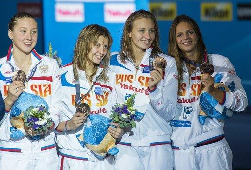 روسيا تحتل المركز الثالث في بطولة العالم للألعاب المائية