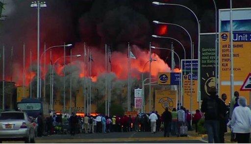 إغلاق مطار نيروبي بعد حريق هائل