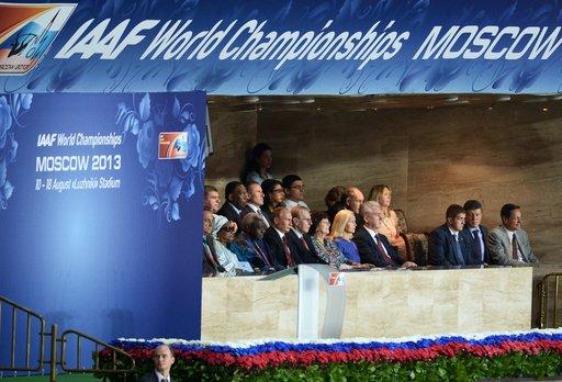 افتتاح الدورة الـ14 لبطولة العالم لألعاب القوى في موسكو