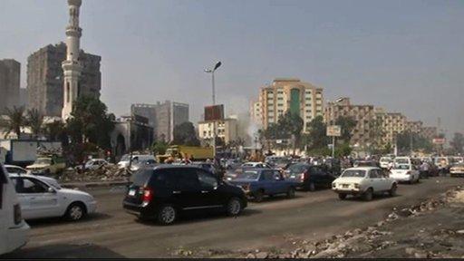 مشاهد من ميدان رابعة العدوية بعد فض الاعتصام