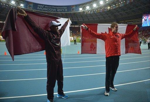برشم يهدي الميدالية الأولى لقطر في بطولة العالم لألعاب القوى في موسكو
