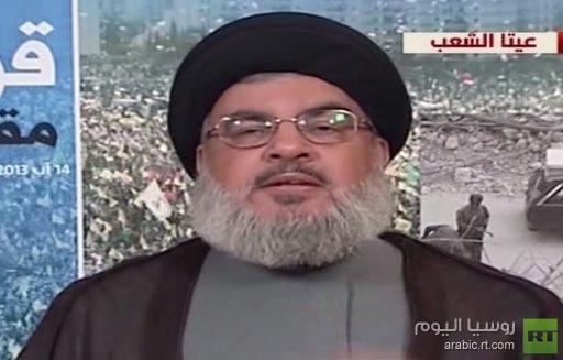 نصر الله: اذا احتاجت المعركة مع الارهابيين ان اذهب مع كل حزب الله الى سورية سنذهب