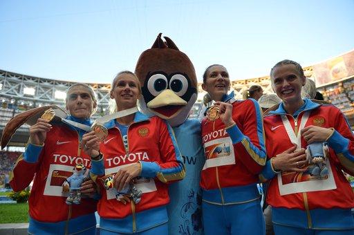 روسيا تفوز بذهبية سباق تتابع 4×400 للسيدات في بطولة العالم