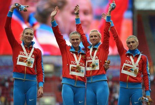 روسيا الأولى من حيث الميداليات الذهبية في بطولة العالم لألعاب القوى في موسكو