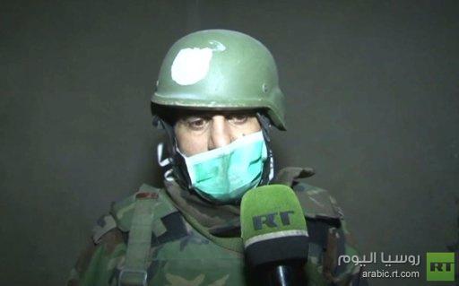 حالات اختناق جنود سوريين لدى دخولهم حي جوبر بدمشق يعتقد أنها نتيجة التعرض لغازات كيميائية