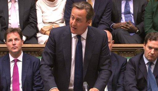 كاميرون: لندن لن تشارك في عملية بسورية دون موافقة البرلمان وقبل مناقشة الأمر في الأمم المتحدة