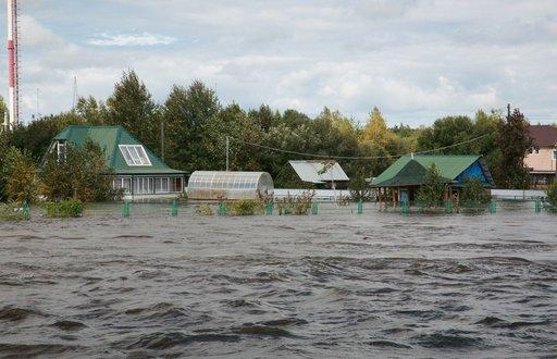 منسوب المياه في نهر آمور بالشرق الأقصى الروسي يبلغ مستوى قياسيا