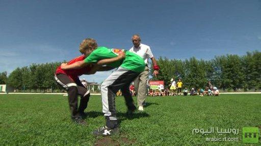 مصارعة الكوريش رياضة تقليدية للتتر