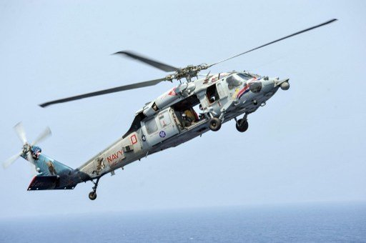 تحطم مروحية أمريكية في البحر الأحمر.  659453