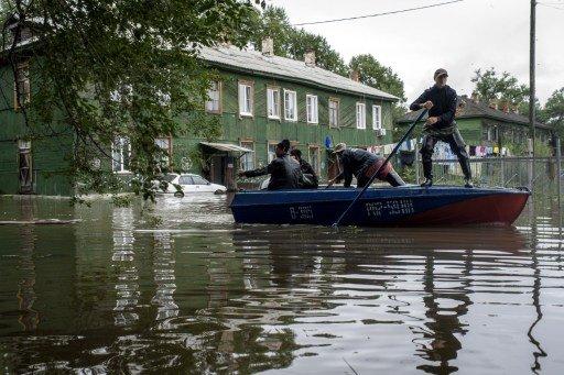 ارتفاع منسوب المياه في نهر أمور في خاباروفسك إلى 8 أمتار