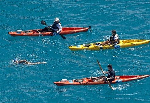 أمريكية عمرها 64 عاما تعبر المحيط من كوبا إلى أمريكا بدون قفص حماية من أسماك القرش